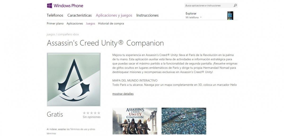 Assassin's Creed Unity recibe su app exclusiva en iOS, Android y Windows - imagen 2