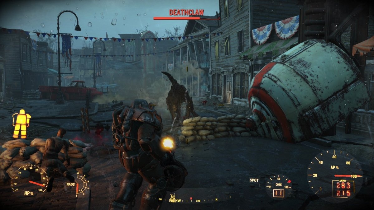 Ataque de un deathclaw