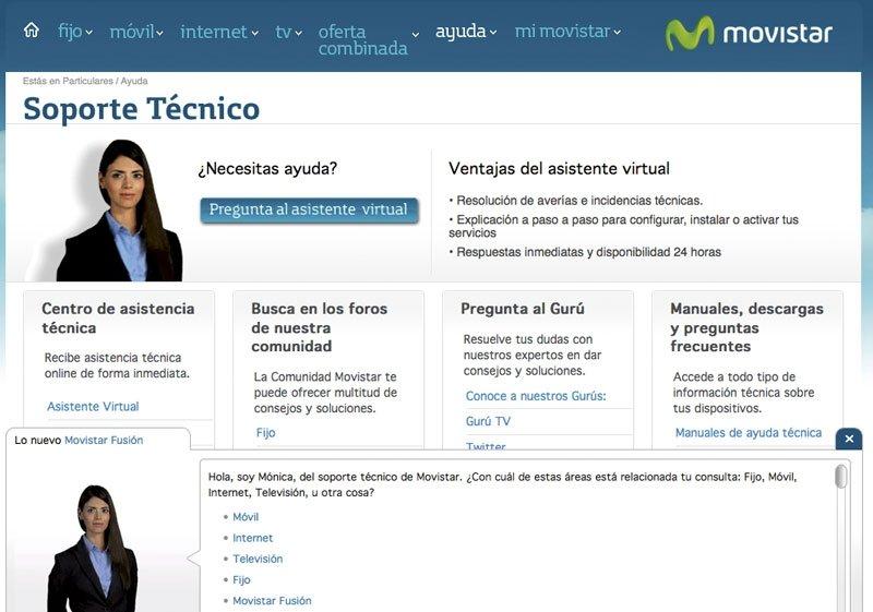 Atención a cliente Internet Movistar