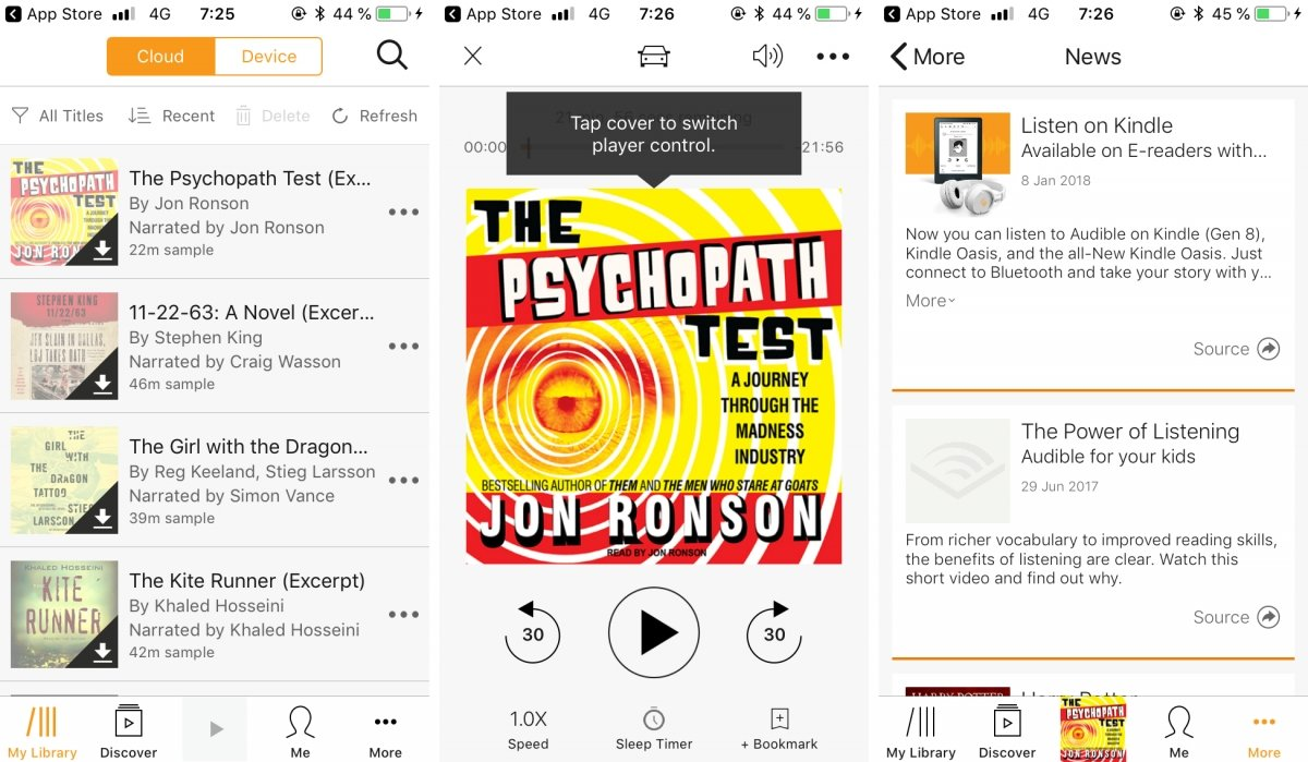 Audible para iPhone ofrece audiolibros