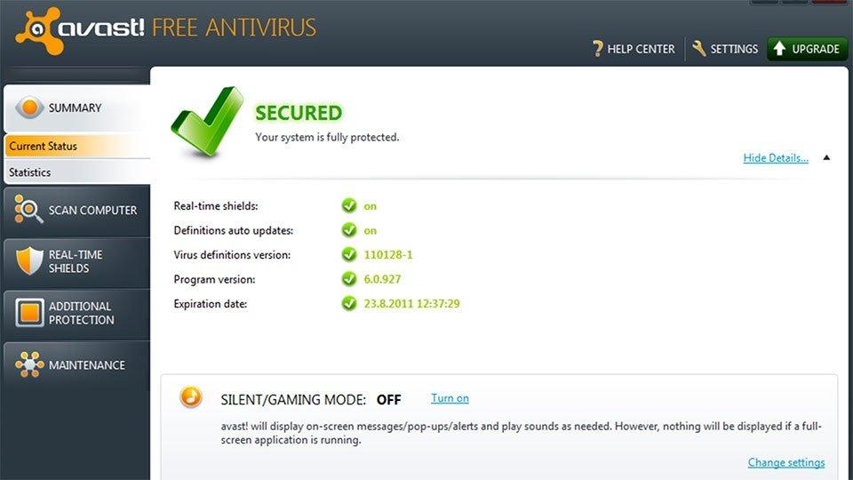 avast antivirus gratis para windows 10