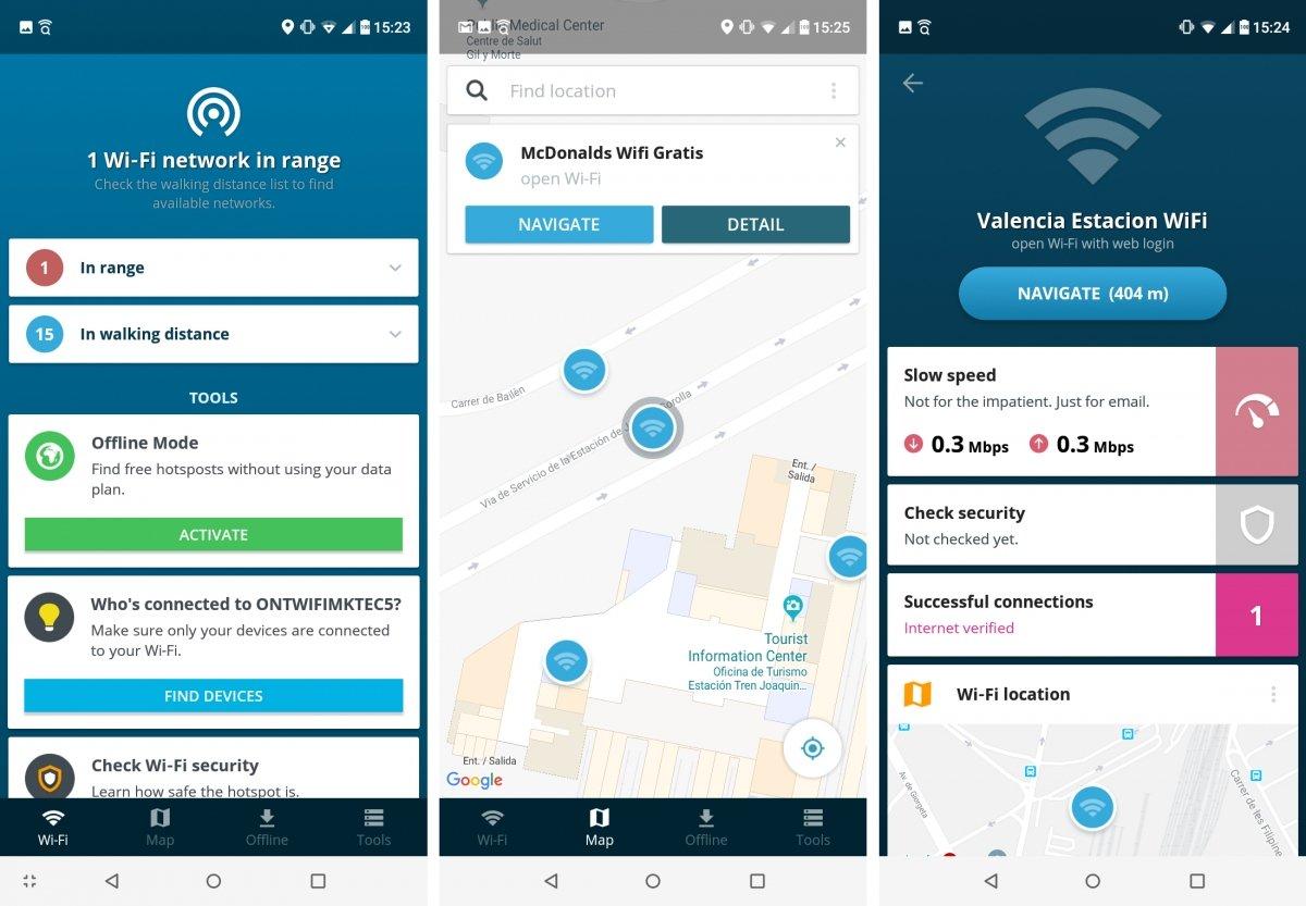 Avast Wi-Fi Finder  también encuentra hotspots gratuitos