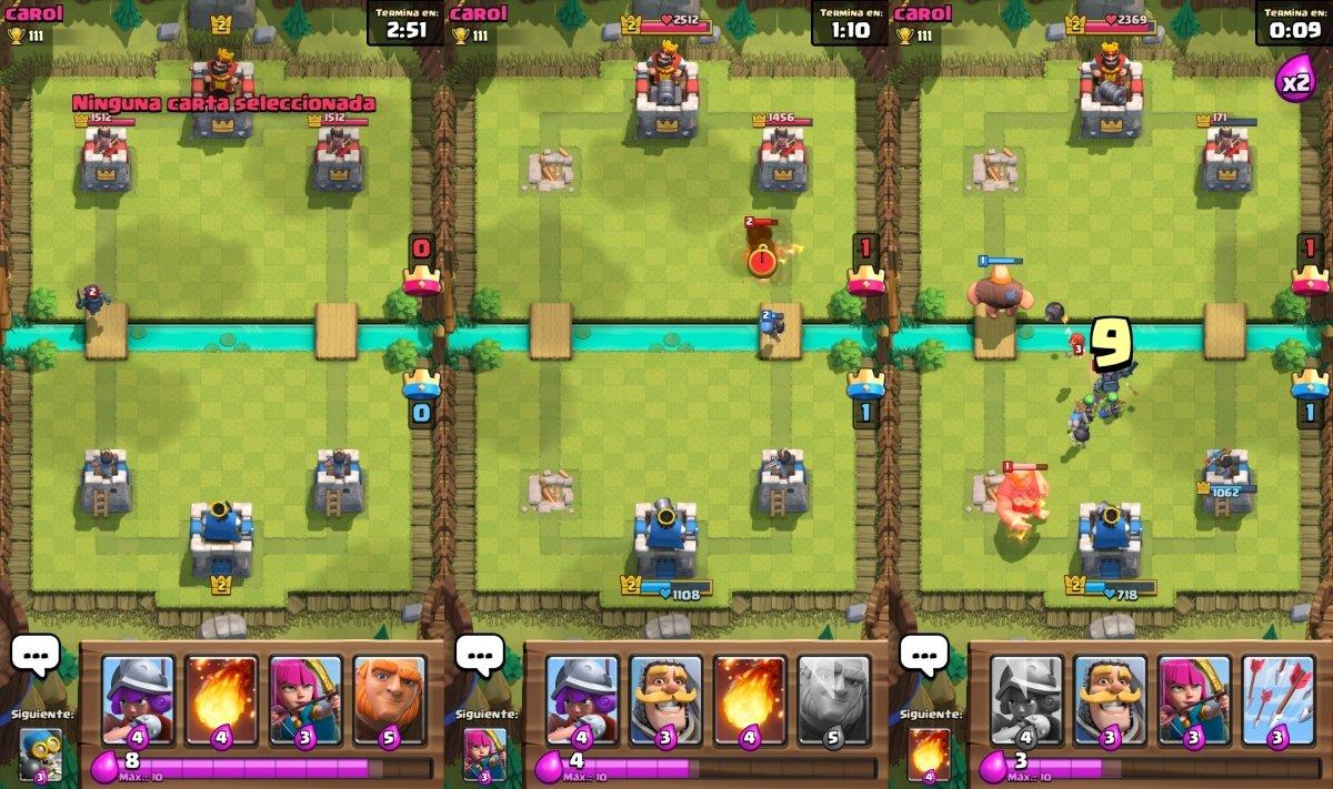 Batalla en Clash Royale