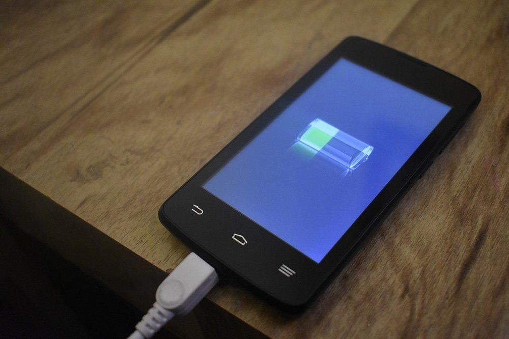 Batería de Android cargándose