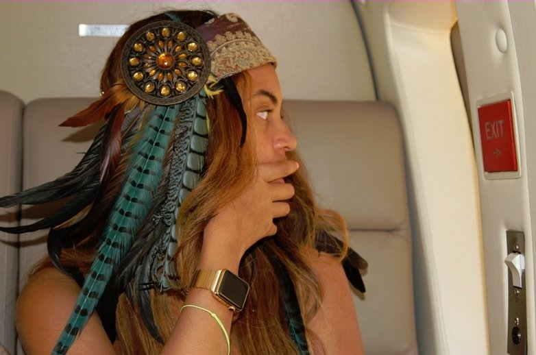 Beyoncé con su Apple Watch Edition Gold