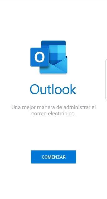 Bienvenida de Outlook