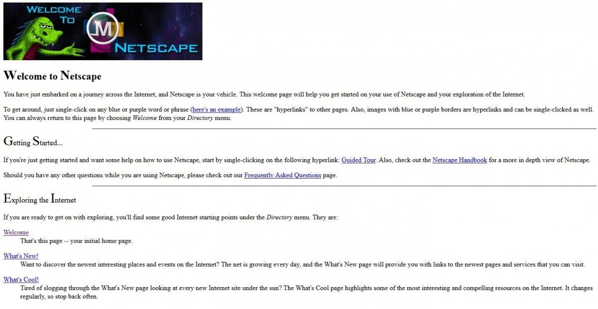Bienvenidos a Netscape