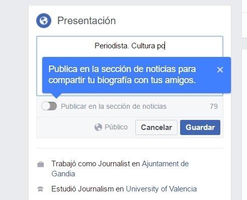 Bio en Facebook