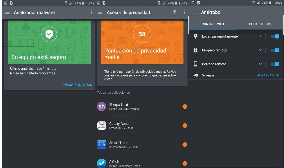 Bitdefender Mobile Security & Antivirus ofrece al usuario un gran abanico de funciones