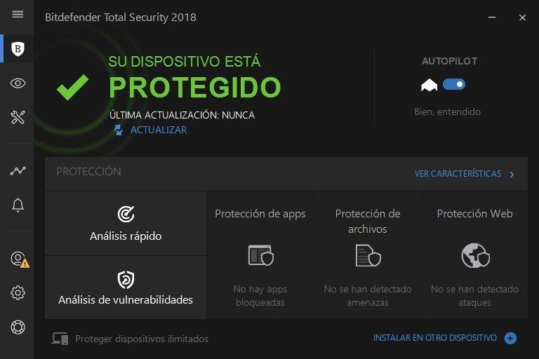 Bitdefender Total Security 2018 - Protección