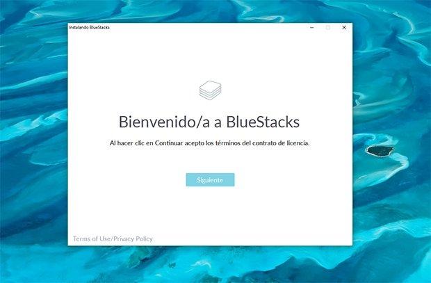 Inicio de BlueStacks