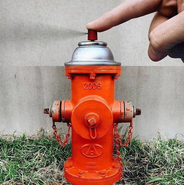 Boca de incendio + Spray