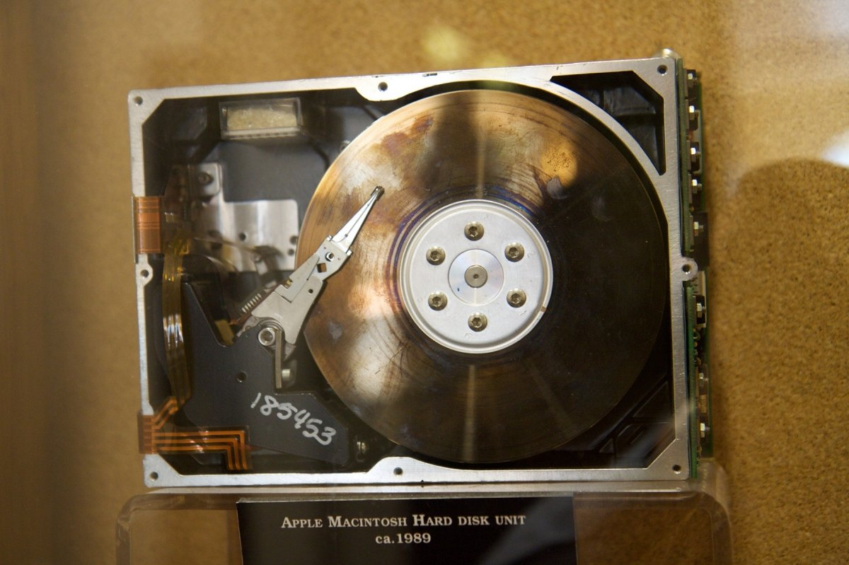 Bonito disco duro de Macintosh de 1989