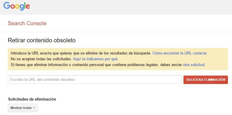 Borrador de URLs de Google