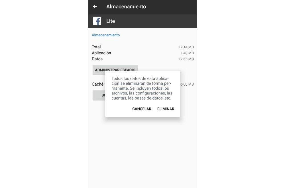 Borrar los datos de una aplicación en Android hará que quede como recién instalada