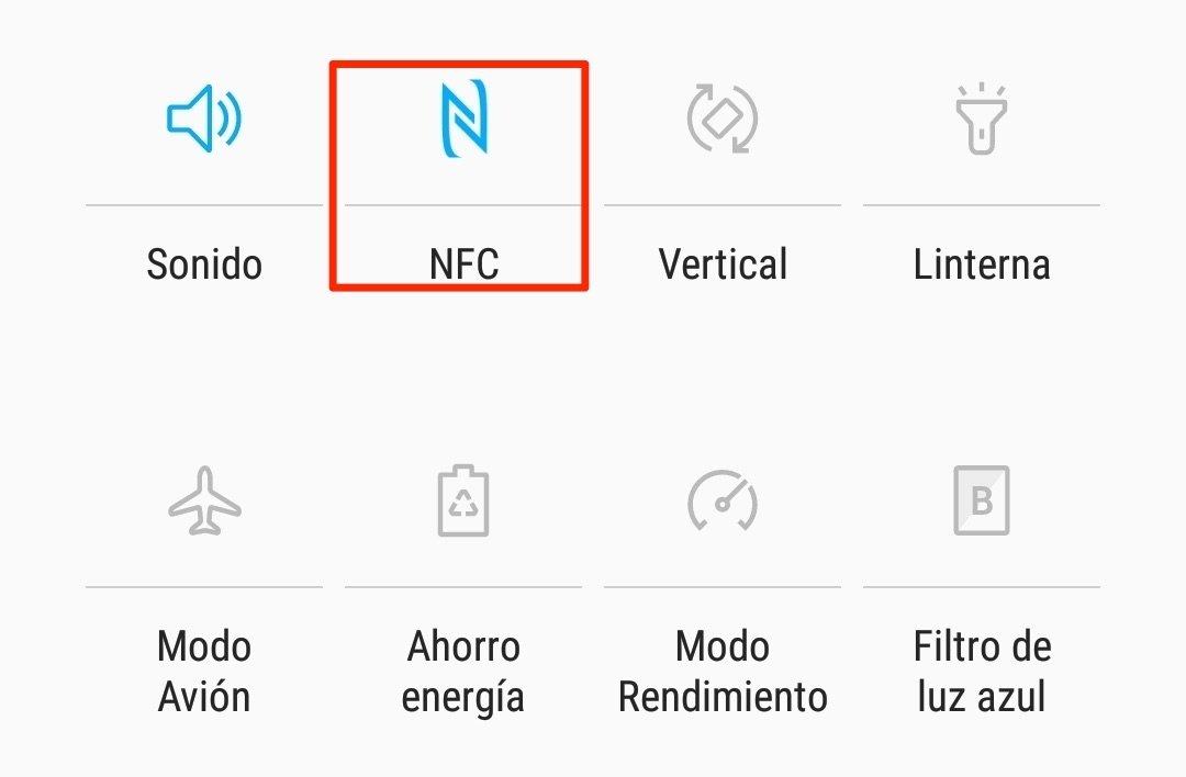 Botón de activación de NFC