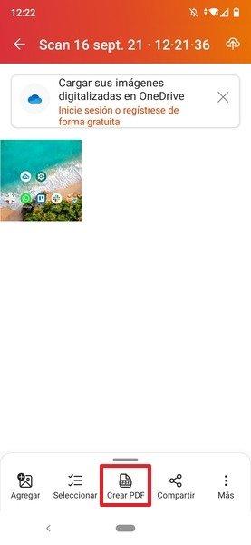 Botón para crear un PDF con la imagen