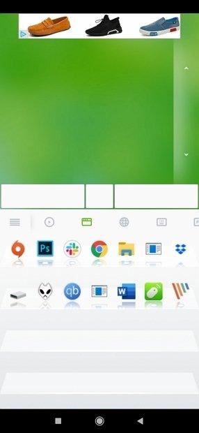 Botones de la barra de tareas en Remote Mouse