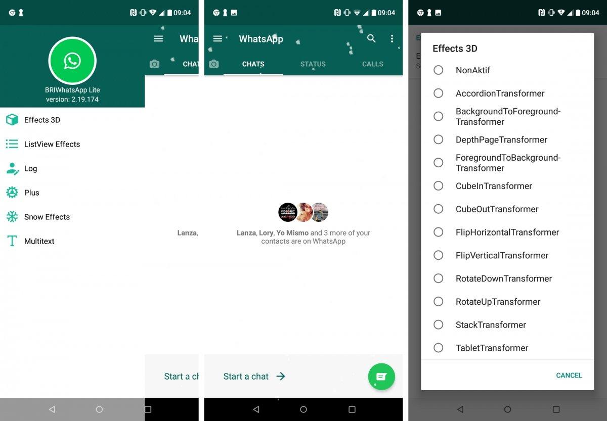 BRIWhatsApp ofrece efectos 3D en tus chats