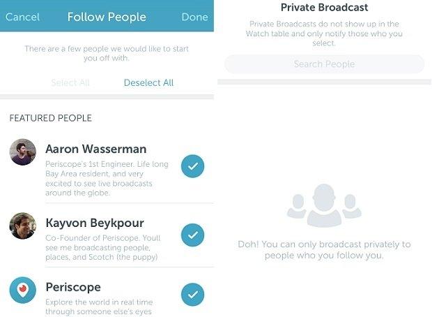 Busca contactos si quieres tener con quién compartir tus streamings privados