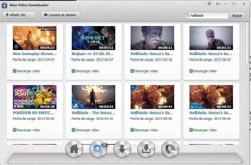 Buscador de Wise Video Downloader