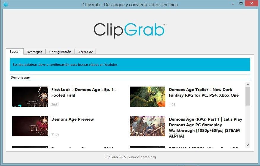 Buscador de ClipGrab
