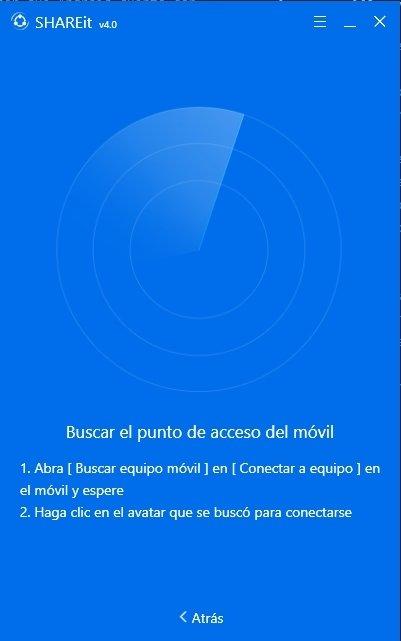 Búsqueda de SHAREit en aplicaciones móviles