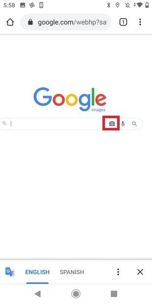 Búsqueda inversa en Chrome para Android