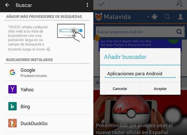 Cambiar el buscador de Firefox y añadir nuevos es muy fácil