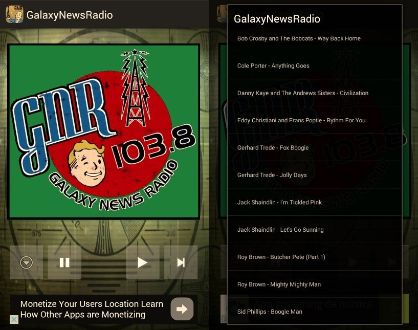 Canciones disponibles en Galaxy News Radio