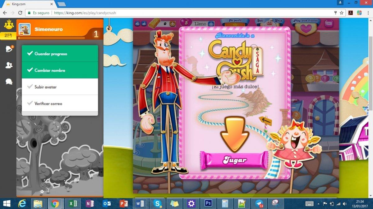 Candy Crush Saga desde la página de King
