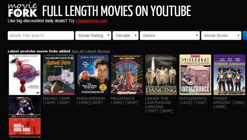 Captura de la portada de MovieFork