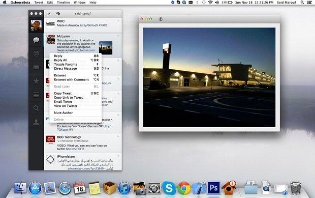 Captura de Osfoora para Mac