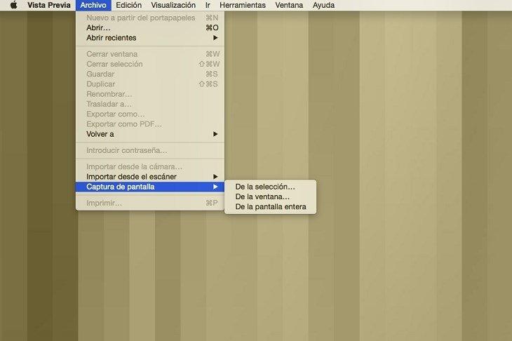 Captura de pantalla con la app Vista Previa de Mac