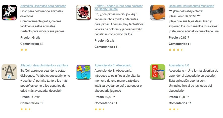 Captura de pantalla de la web Eduapps