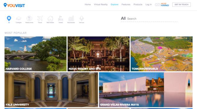 Captura de pantalla del site You Visit, generador de visitas virtuales