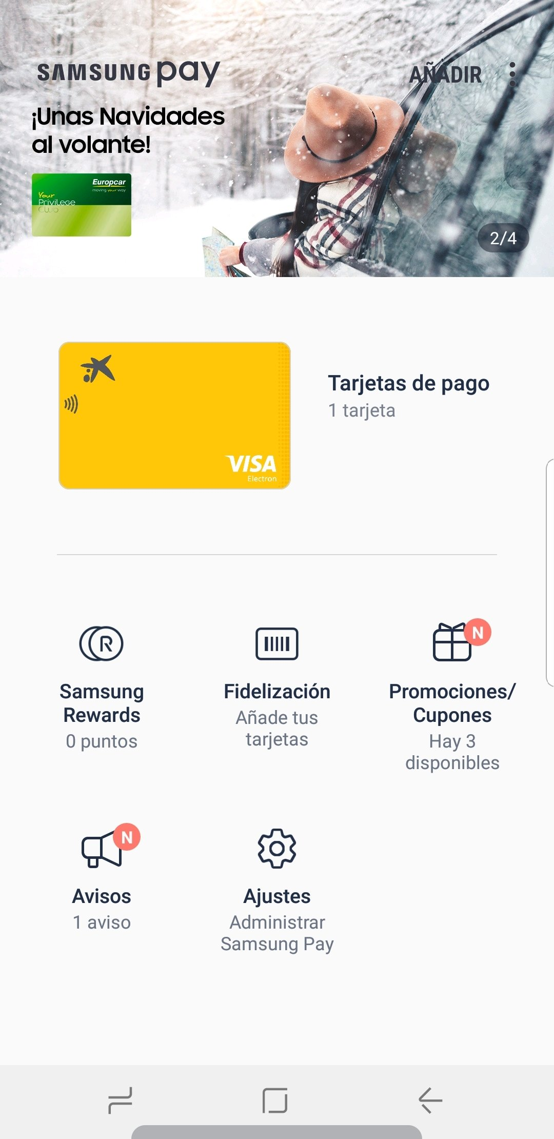 Captura de Samsung Pay