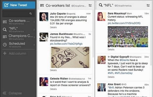 Captura de Tweetdeck para Mac