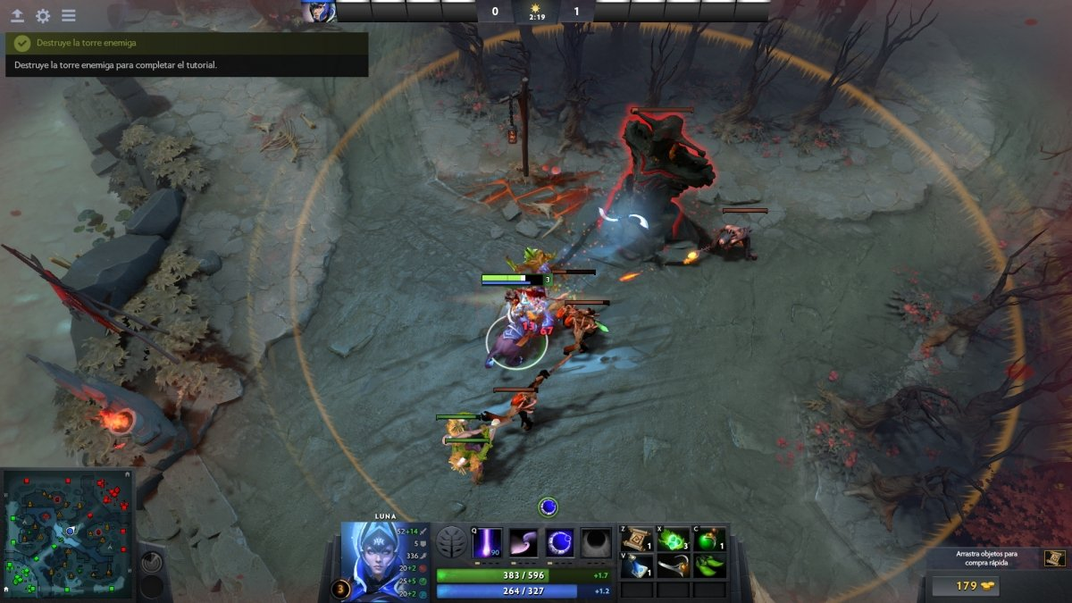 Captura de un gameplay de DotA 2