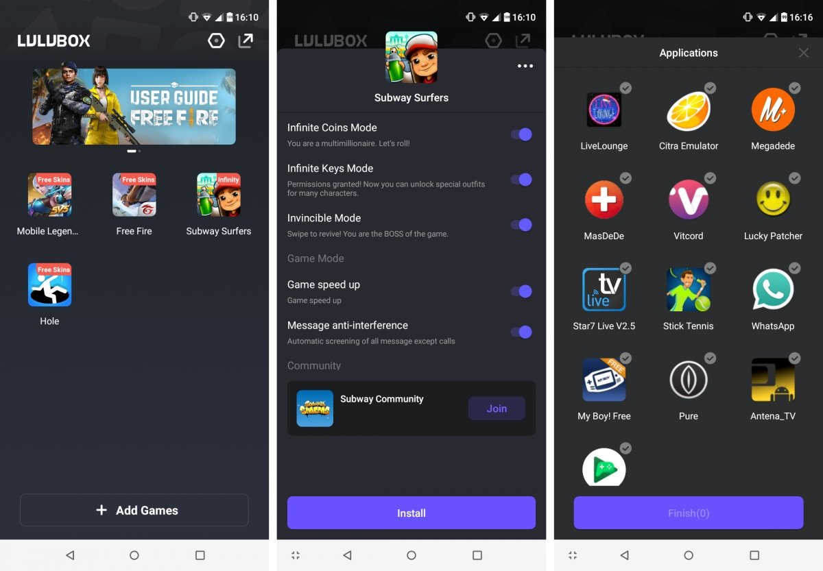 Capturas de Lulubox para Android