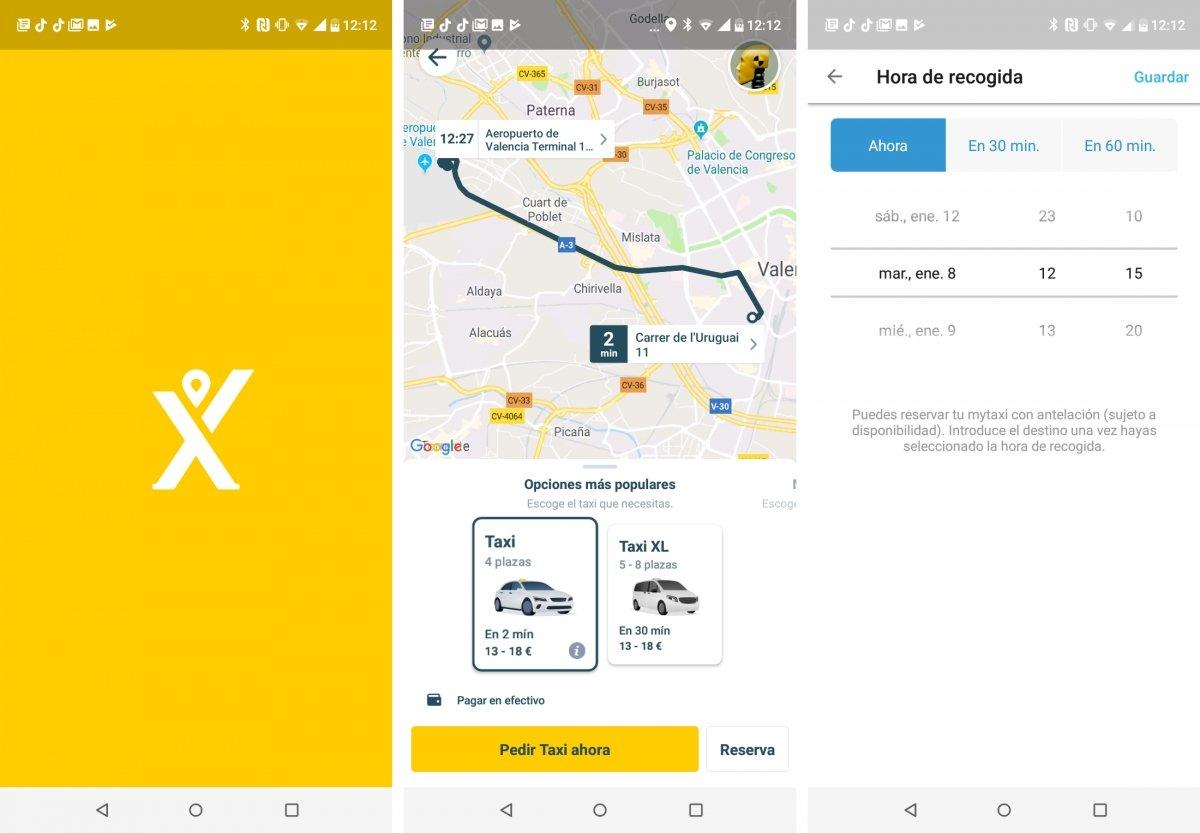Capturas de pantalla de MyTaxi