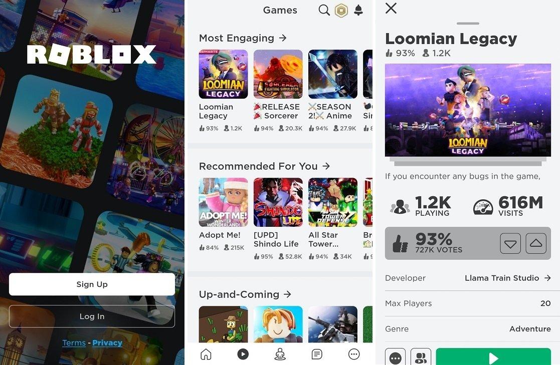 Capturas de pantalla de Roblox