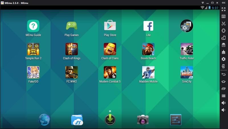 Capturas de pantalla del emulador de Android MEmu