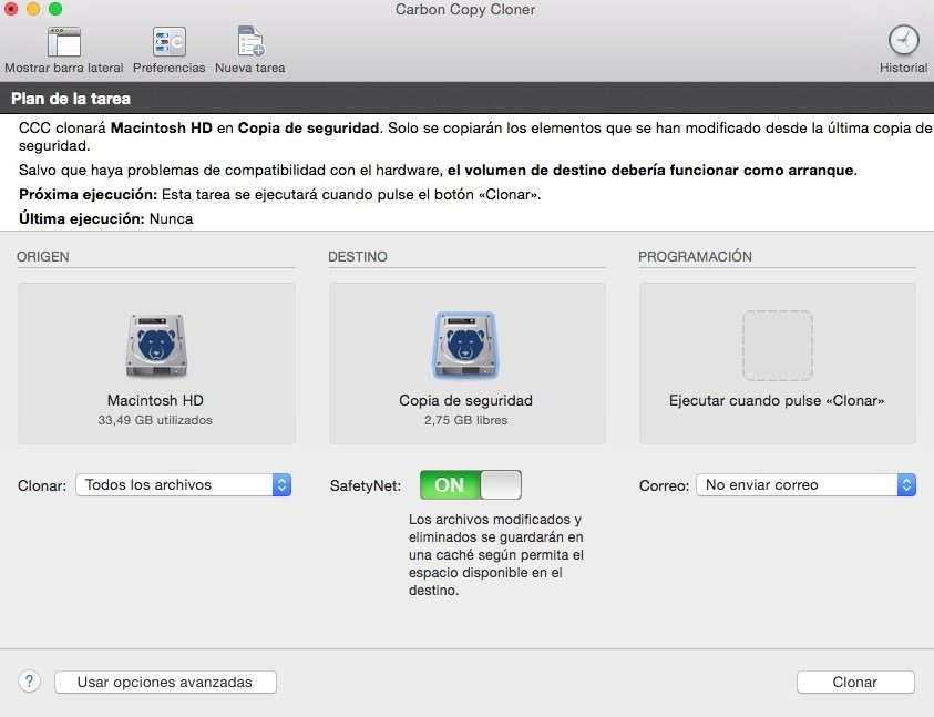 Carbon Copy Cloner es la herramienta ideal para OS X