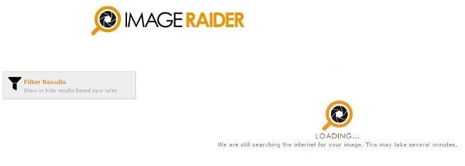 Cargando la búsqueda en Image Raider