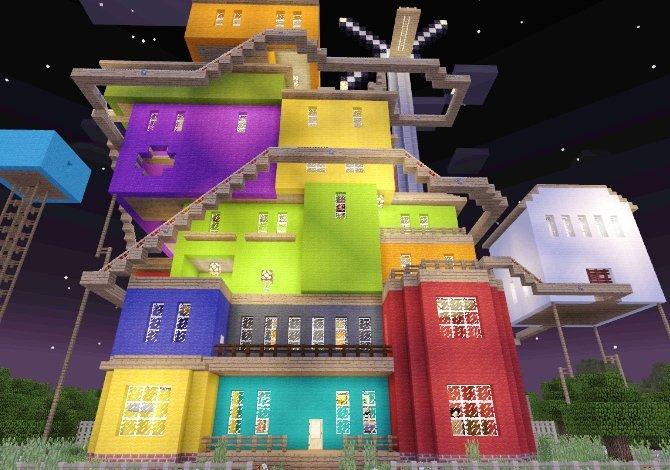 Casa del mapa de las ediciones de Windows 10 Edition y Pocket Edition