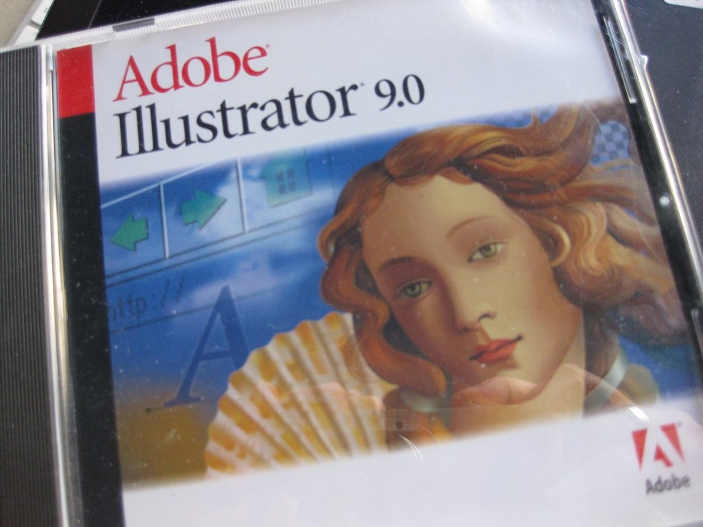 CD de instalación de Adobe illustrator 9.0