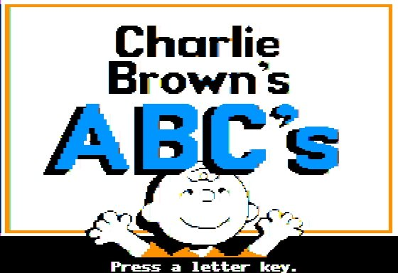 Charlie Brown's ABC en Apple II
