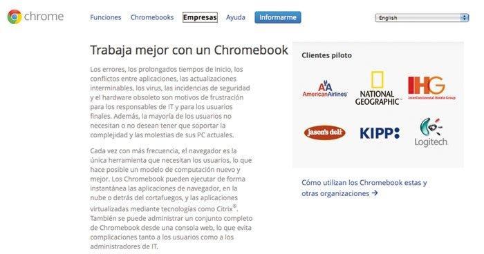 Chromebook detalle Empresas