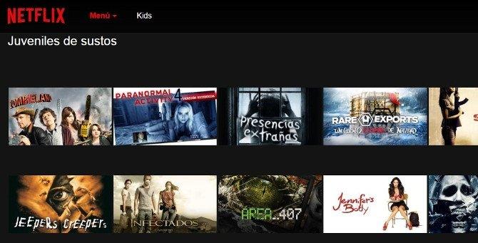 Cine de sustos para jóvenes en el catálogo de Netflix España